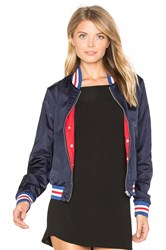 Maison Scotch Special Ribs Bomber Jacket Blue