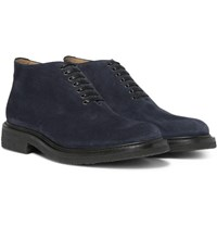 O'keeffe Felix Whole Cut Suede Boots Navy