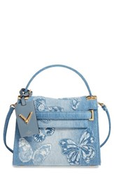 Valentino Small My Rockstud Denim Satchel