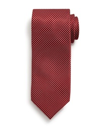 Small Neat Pattern Silk Tie Red Red Stefano Ricci