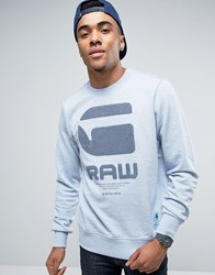 G Star Logo Sweater Blue