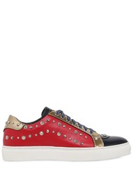 Harris Studded Leather And Metallic Sneakers