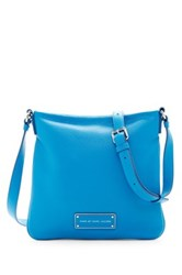 Marc By Marc Jacobs Sia Leather Crossbody Blue