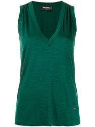 Dsquared2 Gathered Details Tank Top Green
