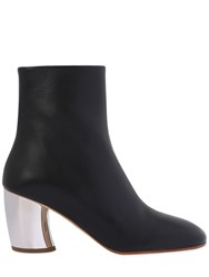 Proenza Schouler 70Mm Metallic Leather Ankle Boots
