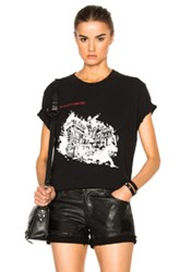 Off White Burning Palace Tee In Black
