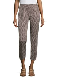 Max Mara Triangle Patterned Pants Dark Brown