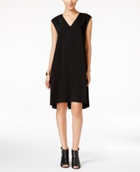Alfani Solid Trapeze Dress Only At Macy's Deep Black