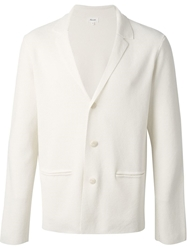 Faconnable Faconnable Textured Knit Blazer White