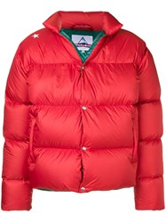 The Editor Branded Back Padded Jacket Red