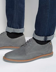 Frank Wright Woking Derby Shoes In Grey Leather Grey