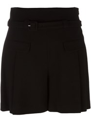 Diane Von Furstenberg Flap Pocket Shorts Black
