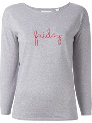 Chinti And Parker 'Friday' T Shirt Grey