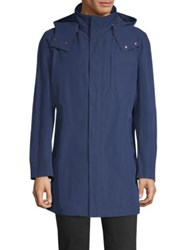 Sanyo May Cape Trench Coat Royal Blue