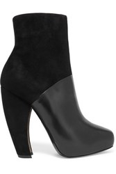 Donna Karan New York Suede And Leather Ankle Boots Black