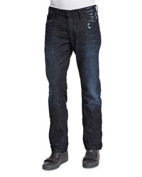 Prps Dark Denim Jeans With Abrasion Dark Blue