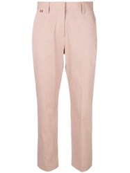 Paul Smith Cropped Straight Leg Trousers Pink And Purple