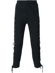 Faith Connexion Lace Up Track Pants Black