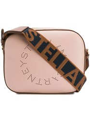 Stella Mccartney Logo Strap Satchel Bag Pink