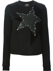 Anthony Vaccarello Star Patch Sweater Black