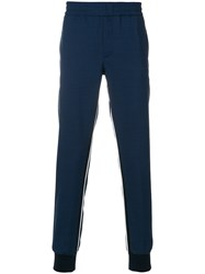 Paul Smith Ps By Track Trousers With Stripe Detail Blue