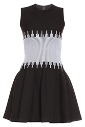Azzedine Alaia Everest White Middle Dress Multi