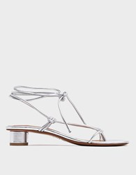 Loq Dora Sandal In Plata Size 36 Leather