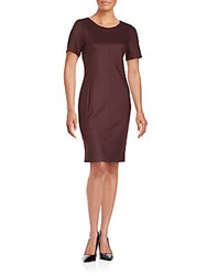 Set Short Sleeve Roundneck Dress Bordeaux