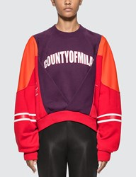 Marcelo Burlon Colorblock Sweatshirt Red