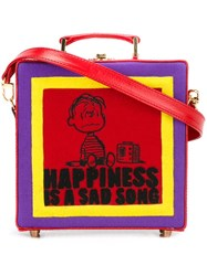 Olympia Le Tan 'Happiness Is A Sad Song' Bag Pink And Purple