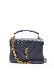 Saint Laurent Coll Ge Medium Quilted Leather Cross Body Bag
