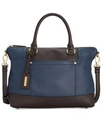 Tignanello Smooth Operator Leather Convertible Satchel Midnight Dark Brown