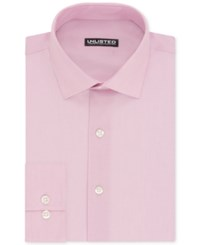 Unlisted By Kenneth Cole Men's Slim Fit Chambray Dress Shirt Classic Pink