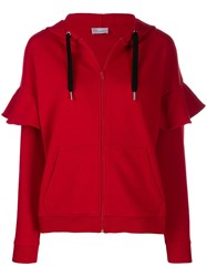 Red Valentino 'Love You' Zip Up Hoodie L58 Red