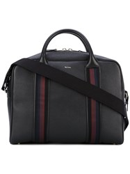 Paul Smith Top Zip Briefcase Men Calf Leather One Size Black