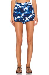 Michael Stars Flat Front Short Blue