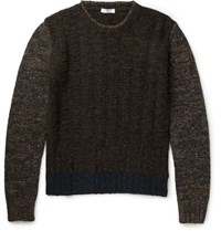 Boglioli Melange Wool Blend Sweater Dark Green