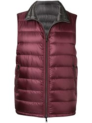 Herno Zipped Padded Vest Pink And Purple