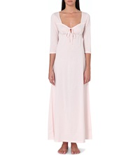 Bodas Long Cotton Jersey Nightdress Blush Pink