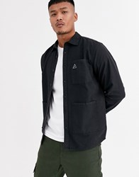 Only And Sons Overshirt In Black