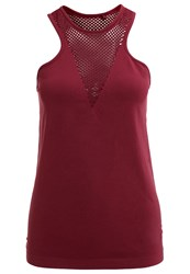 Evenandodd Active Vest Windsor Wine Dark Red