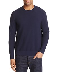 Michael Kors Textured Cotton Crewneck Sweater 100 Bloomingdale's Exclusive Midnight Blue