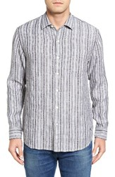 Tommy Bahama Men's Big And Tall Ricky Jacquardo Stripe Linen And Cotton Sport Shirt