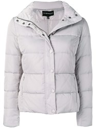 Emporio Armani Hooded Puffer Jacket Grey