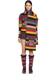 Etro Intarsia Striped Wool Scarf
