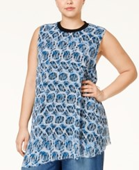 Rachel Rachel Roy Curvy Plus Size Snakeskin Print Sleeveless Top Multi