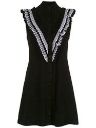 Andrea Bogosian Ruffled Dress Black