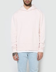 John Elliott Oversized Cropped Hoodie In Pink