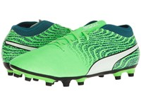 Puma One 18.4 Fg Green Gecko White Deep Lagoon Soccer Shoes