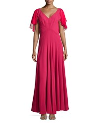 Zac Zac Posen Flutter Sleeve Full Gown Women's